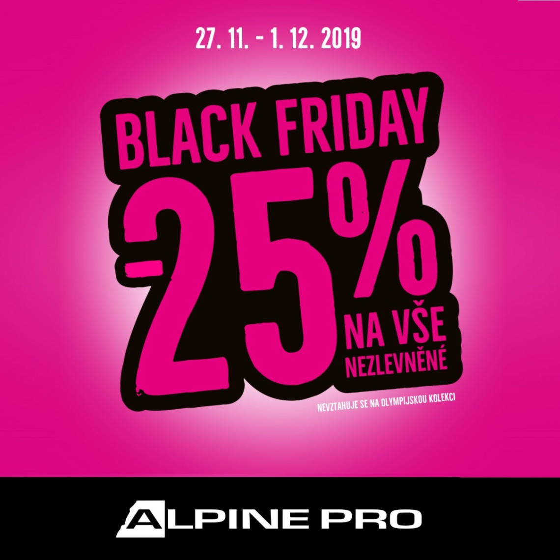 Black Friday v ALPINE PRO